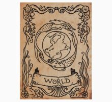 Mermaid Tarot Sticker: The World by SophieJewel