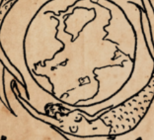 Mermaid Tarot Sticker: The World Sticker