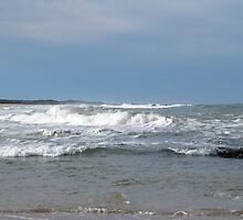 Choppy Seas at Corindi Beach. N.S.W. Nth Coast.  by Rita Blom