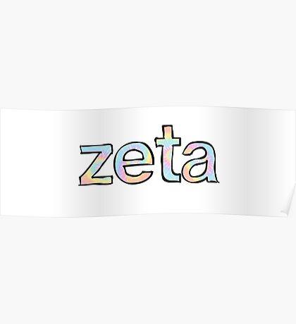 Zeta Tie Dye Poster