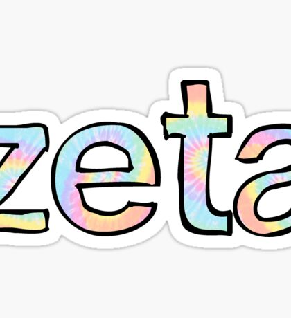 Zeta Tie Dye Sticker