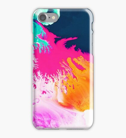 Deep Sea Coral Print 1 iPhone Case/Skin