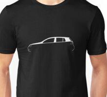 Silhouette Volkswagen VW Golf Mk5 White Unisex T-Shirt