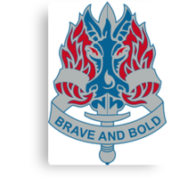 198th Infantry Brigade - DUI - Brave and Bold Canvas Print