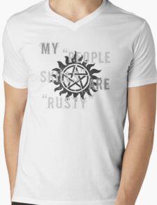 Supernatural Castiel 'People Skills' T-Shirt Mens V-Neck T-Shirt