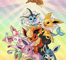 Eeveelution Pileup by keshi