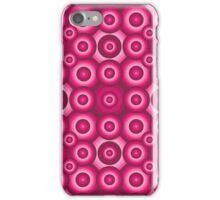 Pink Monochrome Geometric Pattern iPhone Case/Skin