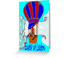 Rockabilby Easter Hot Air Balloonist Greeting Card