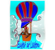 Rockabilby Easter Hot Air Balloonist Poster