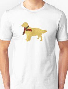 Preppy Golden Retriever - Tartan Plaid Scarf Unisex T-Shirt
