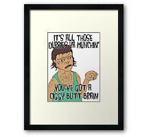 """""""DURRY MUNCHIN"""" STRAYA TRAIN STATION - DAMO & DARREN! Framed Print"""