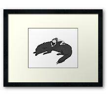 Wild girl sleeping Framed Print