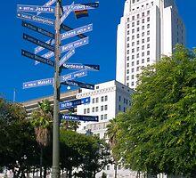 Sister Cities Of Los Angeles - Athens Auckland Berlin Bordeaux Eliat Giza Ischia Jakarta Mexico City by Ram Vasudev
