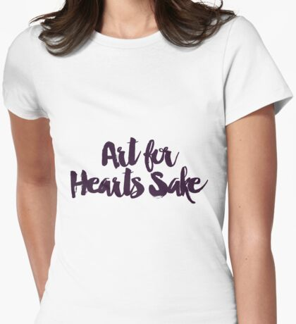 Art for Hearts Sake Womens Fitted T-Shirt