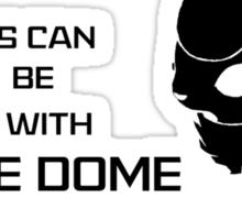Democracy Black Text Sticker