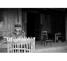 Man weaving baskets, Sapa, Vietnam Photographic Print