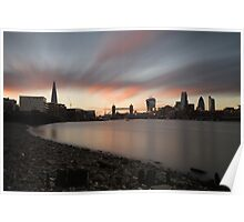 Sunset at Bermondsey Beach Poster