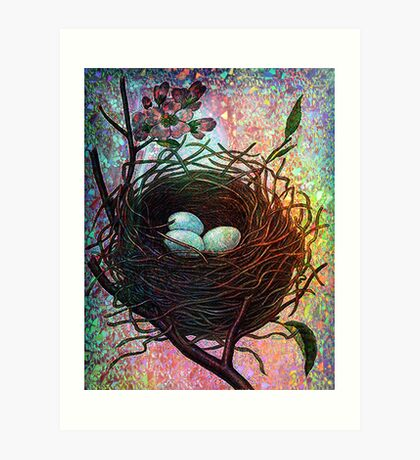 TWILIGHT NESTING Art Print