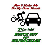 Watch for Motorcycles - iPad by KarDanCreations