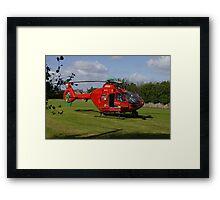 Air Ambulance at Nefyn Framed Print