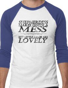 Little Lambs (No Graphic) Men's Baseball ¾ T-Shirt