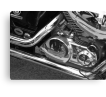 motorbike reflection Canvas Print