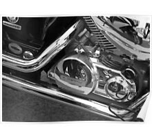 motorbike reflection Poster