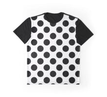Polka Dots, Spots (Dotted Pattern) - Black White  Graphic T-Shirt