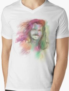 Yanni Mens V-Neck T-Shirt