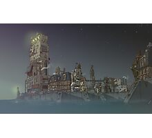 Surreal Future Steampunk Haven City Photographic Print