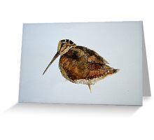 Woodcock Watercolour Design  Greeting Card