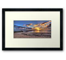 Sun Rays Over Frankston Pier Framed Print