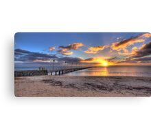 Sun Rays Over Frankston Pier Canvas Print