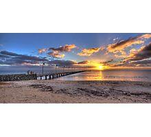 Sun Rays Over Frankston Pier Photographic Print