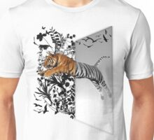 Jumping Tiger Unisex T-Shirt