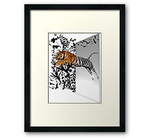 Jumping Tiger Framed Print