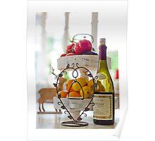 Food & Wine Still Life Poster