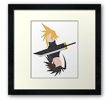 Zack and Cloud Framed Print