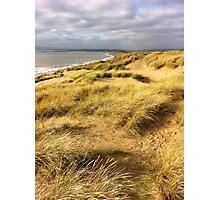 Cloudy beach Photographic Print