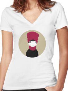 Matmazell Women's Fitted V-Neck T-Shirt