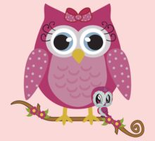 Pretty Pink Owl .. tee shirt by LoneAngel