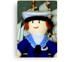 Knitted Dolls Fun 1 Canvas Print