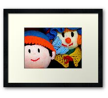 Knitted Dolls Fun 3 Framed Print