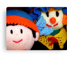 Knitted Dolls Fun 3 Canvas Print