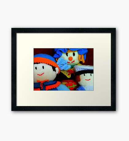 Knitted Dolls Fun 4 Framed Print