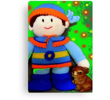 Knitted Dolls Fun 5 Canvas Print