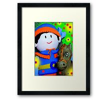 Knitted Dolls Fun 7 Framed Print
