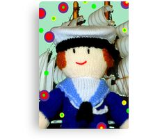Knitted Dolls Fun 8 Canvas Print