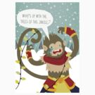 Wukong doesn't like Christmas by elvencat