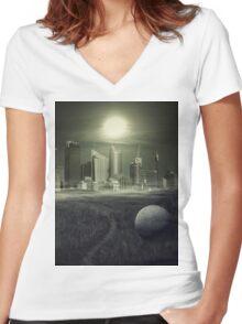 sphere Women's Fitted V-Neck T-Shirt